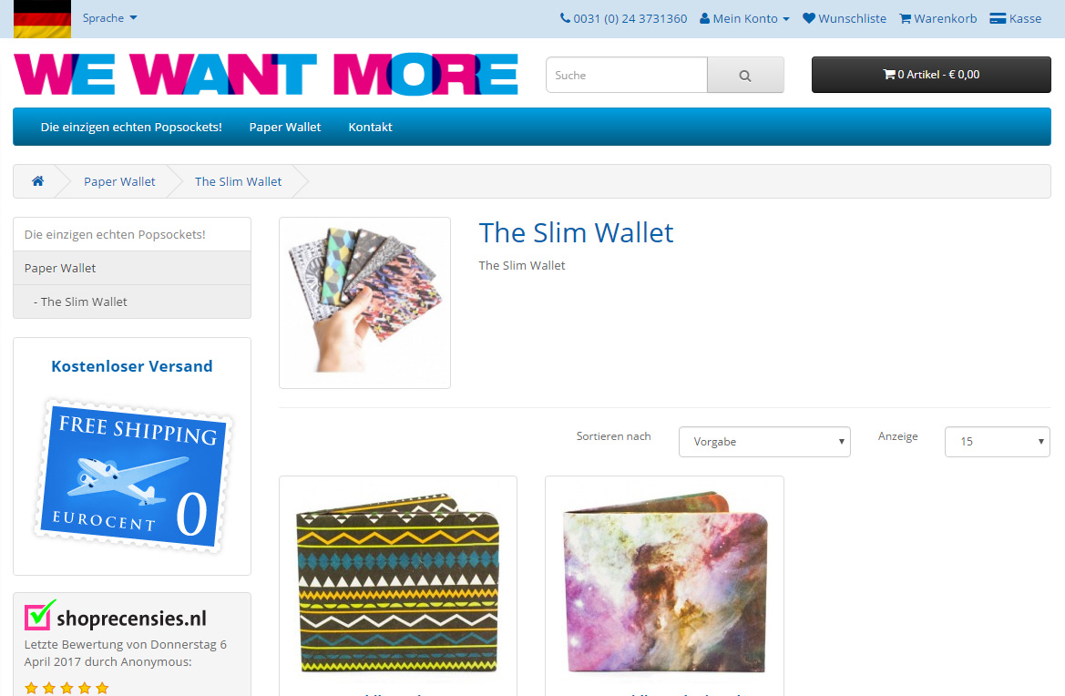 We Want More Gadget Store